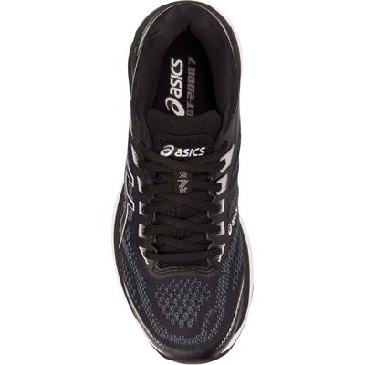 Asics GT-2000 7 Ladies Running Shoes - Black - Above