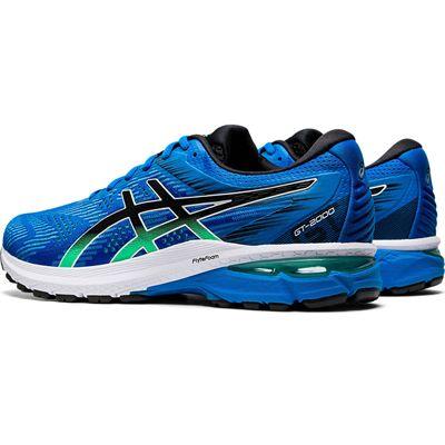 Asics GT-2000 8 Mens Running Shoes - Blue - Slant