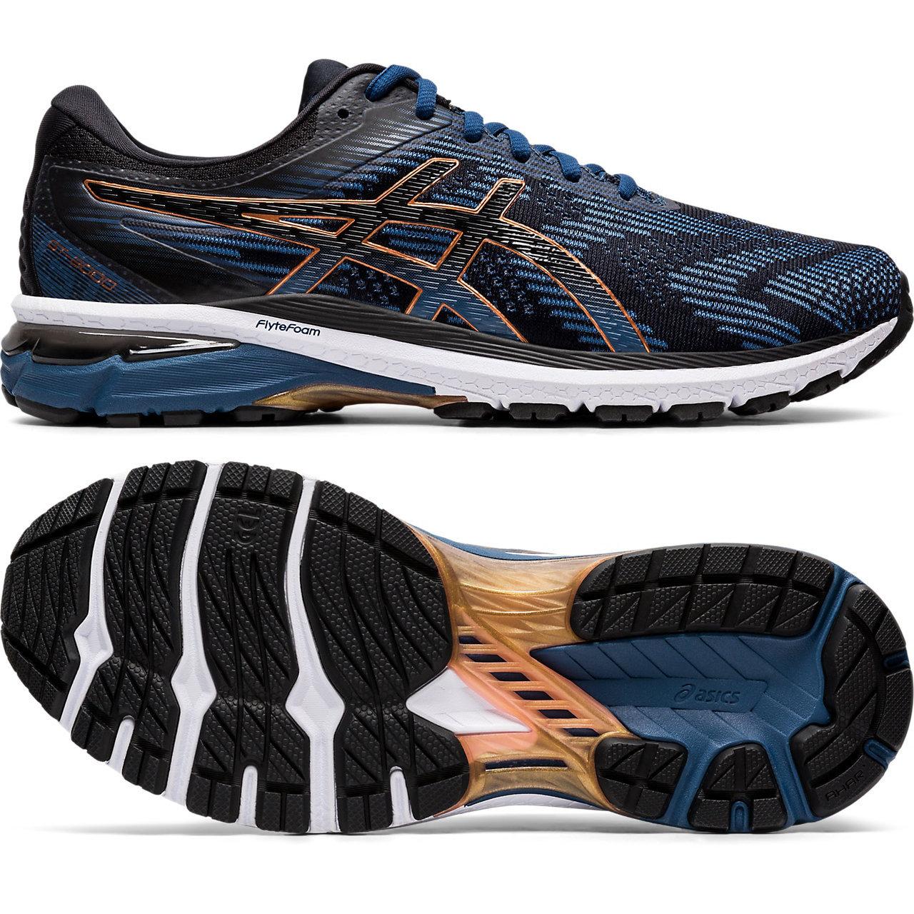 Asics GT-2000 8 Mens Running Shoes - Blue/Black, 8 UK