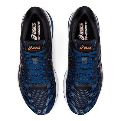 Asics GT-2000 8 Mens Running Shoes - BlueBlack - Above