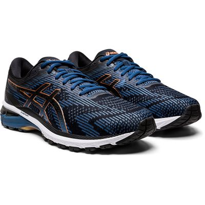 Asics GT-2000 8 Mens Running Shoes - BlueBlack - Angled