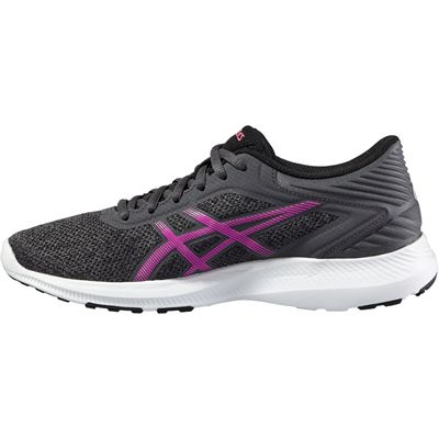 Asics NitroFuze Ladies Running Shoes-Black-Pink-Medial