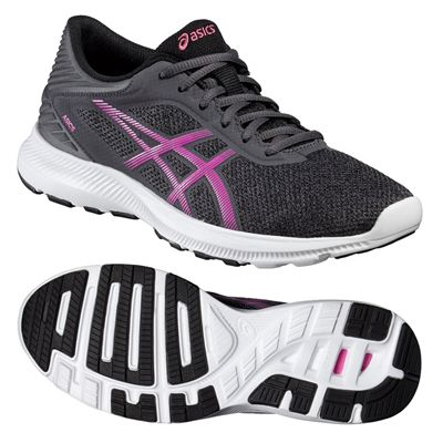 Asics NitroFuze Ladies Running Shoes-Black-Pink