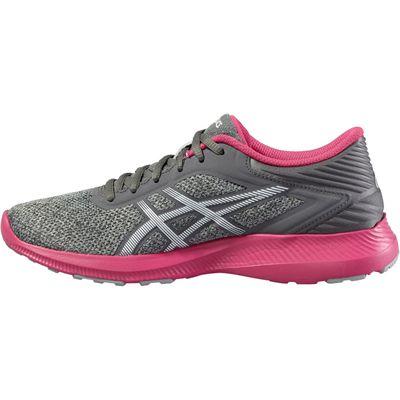 Asics NitroFuze Ladies Running Shoes-Grey-Pink-Medial