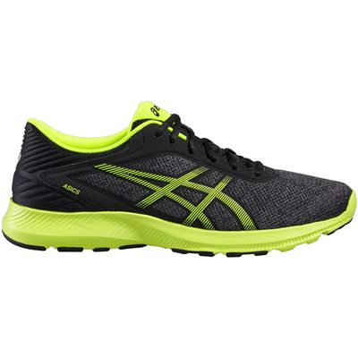 Asics NitroFuze Mens Running Shoes-Black-Lime-Lateral