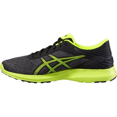 Asics NitroFuze Mens Running Shoes-Black-Lime-Medial
