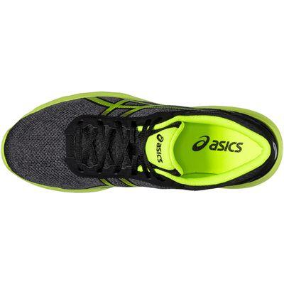Asics NitroFuze Mens Running Shoes-Black-Lime-Top