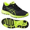 Asics NitroFuze Mens Running Shoes-Black-Lime