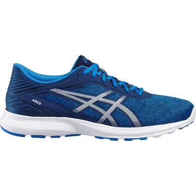 Asics NitroFuze Mens Running Shoes-Blue-White-Lateral