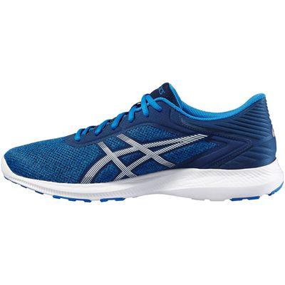 Asics NitroFuze Mens Running Shoes-Blue-White-Medial