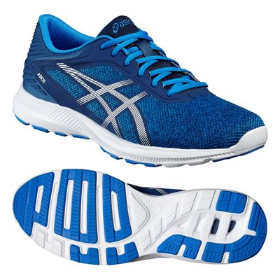 Asics NitroFuze Mens Running Shoes-Blue-White