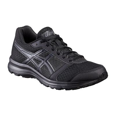 Asics Patriot 8 Ladies Running Shoes-Black-Angled