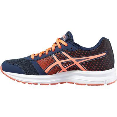 Asics Patriot 8 Ladies Running Shoes-Navy-Orange-Side