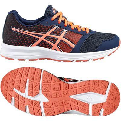 Asics Patriot 8 Ladies Running Shoes-Navy-Orange