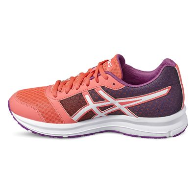 Asics Patriot 8 Ladies Running Shoes-orange-side2
