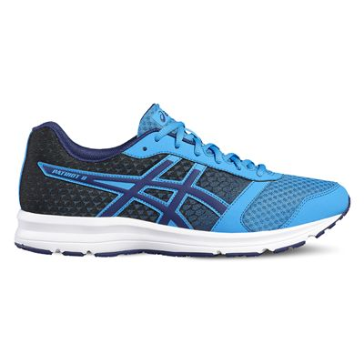 Asics Patriot 8 Mens Running Shoes-blue-side