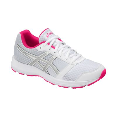 Asics Patriot 9 Ladies Running Shoes - White - Angled