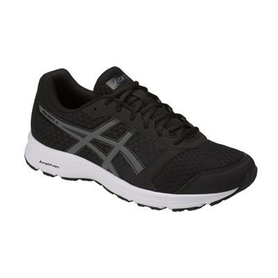 Asics Patriot 9 Mens Running Shoes - Black - Angled