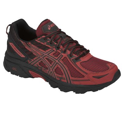 Asics Venture 6 Mens Running Shoes AW18 - Red - Angled2