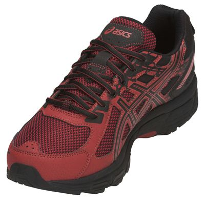 Asics Venture 6 Mens Running Shoes AW18 - Red - Angled