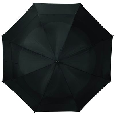 BagBoy 62 Inch Wind Vent Umbrella - Black - Top