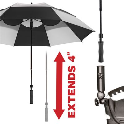 BagBoy 62 Inch Wind Vent Umbrella - BlackNavy - Extend