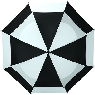 BagBoy 62 Inch Wind Vent Umbrella - BlackNavy - Top