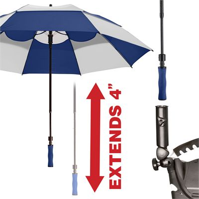 BagBoy 62 Inch Wind Vent Umbrella - Navy - Extended
