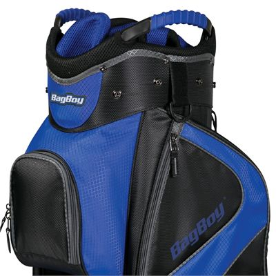 BagBoy C-500 Golf Cart Bag - Blue - Top - Zoomed