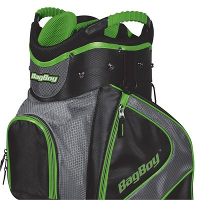 BagBoy C-500 Golf Cart Bag - Lime - Top Zoomed