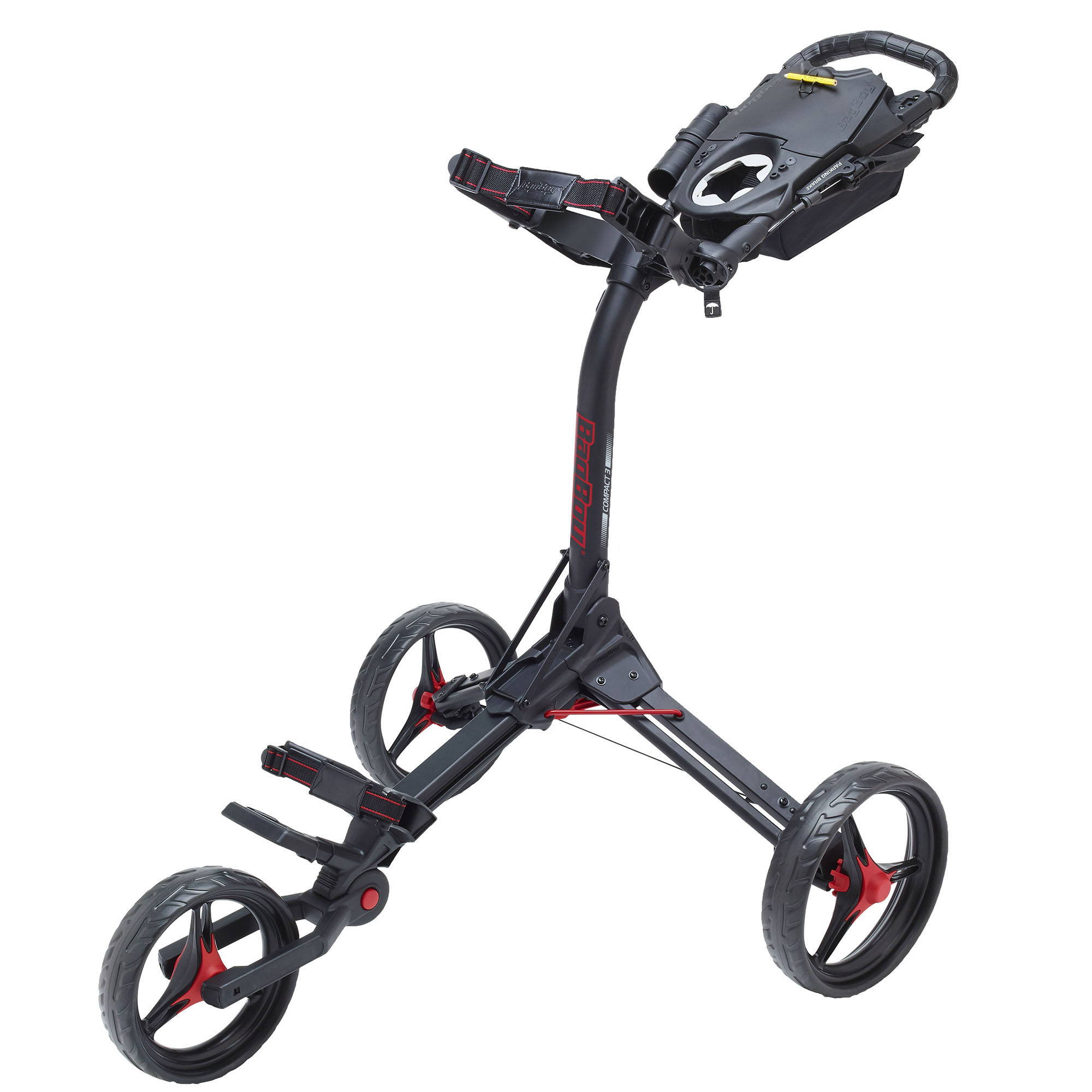 BagBoy Compact 3 Golf Trolley – Black/Red