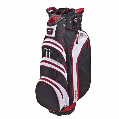 BagBoy Lite Rider Cart Bag-Black And Red And White