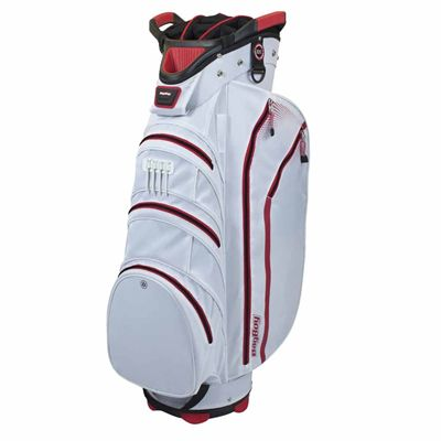 BagBoy Lite Rider Cart Bag-White And Red