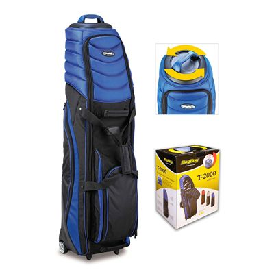 BagBoy T-2000 Pivot Grip Golf Travel Cover-Blue And Black With Box