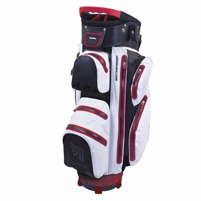 BagBoy Techno Water Cart Bag-White And Black And Red