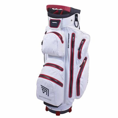 BagBoy Techno Water Cart Bag-White And Red
