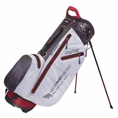 BagBoy Techno Water Stand Bag-White and Black and Red