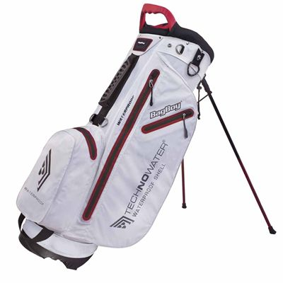 BagBoy Techno Water Stand Bag-White and Red