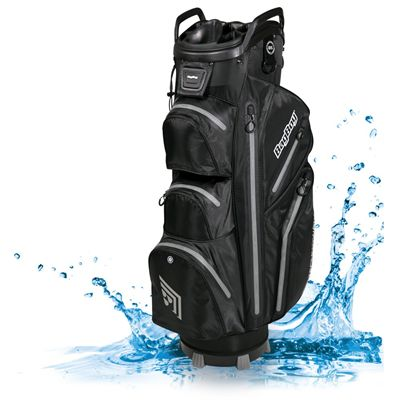 BagBoy TechnoWater C-302 Golf Cart Bag - Black/Silver - Waterptoof