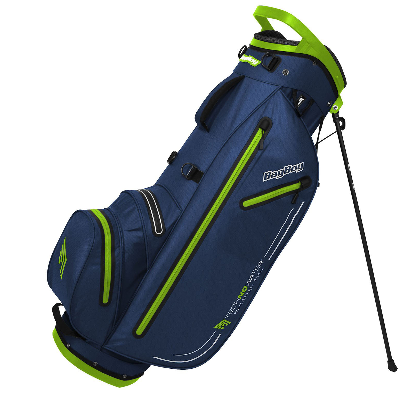 BagBoy Technowater Trekker Dri Golf Stand Bag – Navy/Lime
