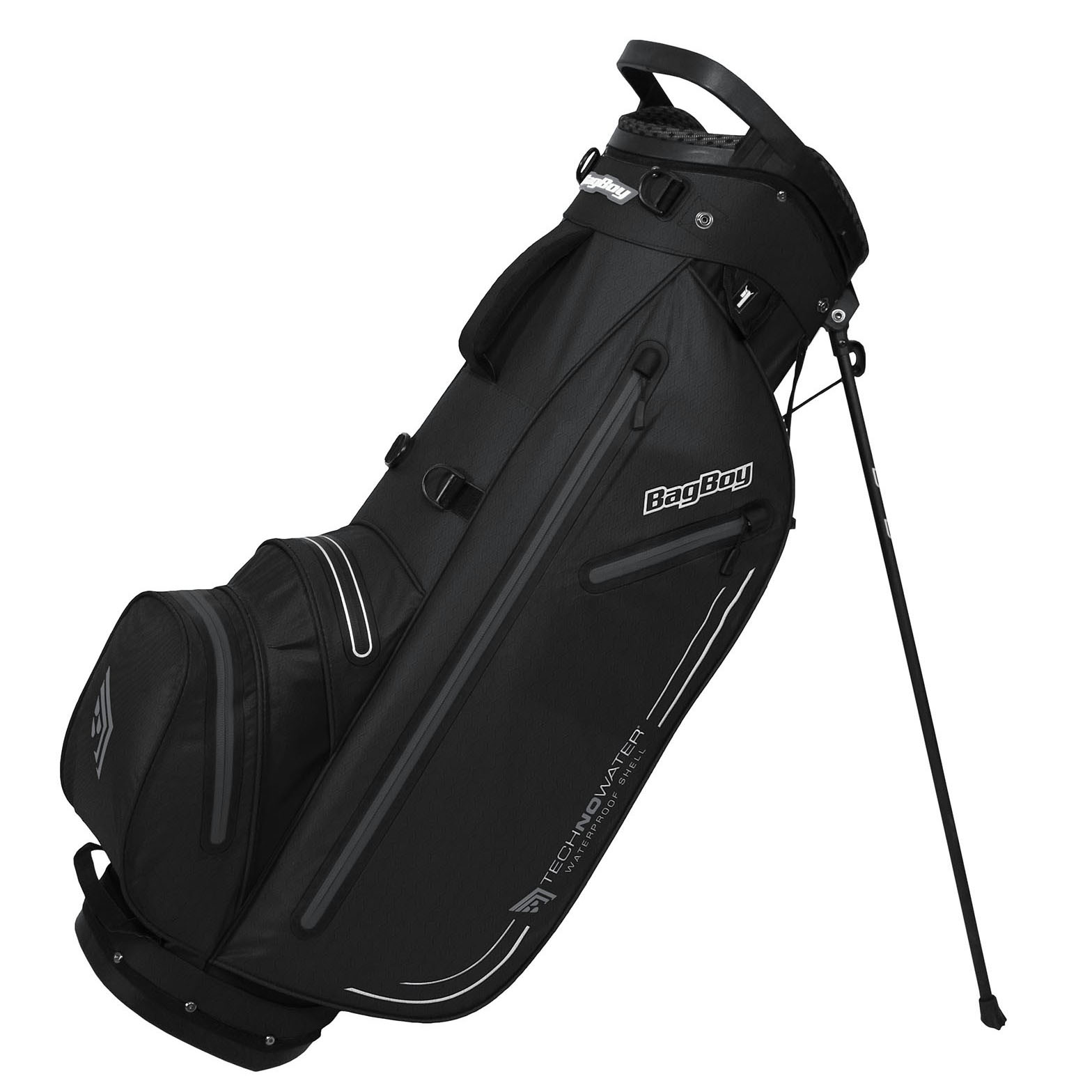 BagBoy Technowater Trekker Dri Golf Stand Bag – Black/Grey