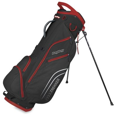 BagBoy Trekker Ultra Lite Golf Stand Bag - BlackRed