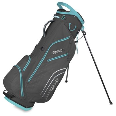 BagBoy Trekker Ultra Lite Golf Stand Bag - Blue - Charocal