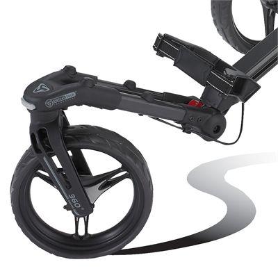 BagBoy Tri Swivel II Golf Trolley-Front Wheel