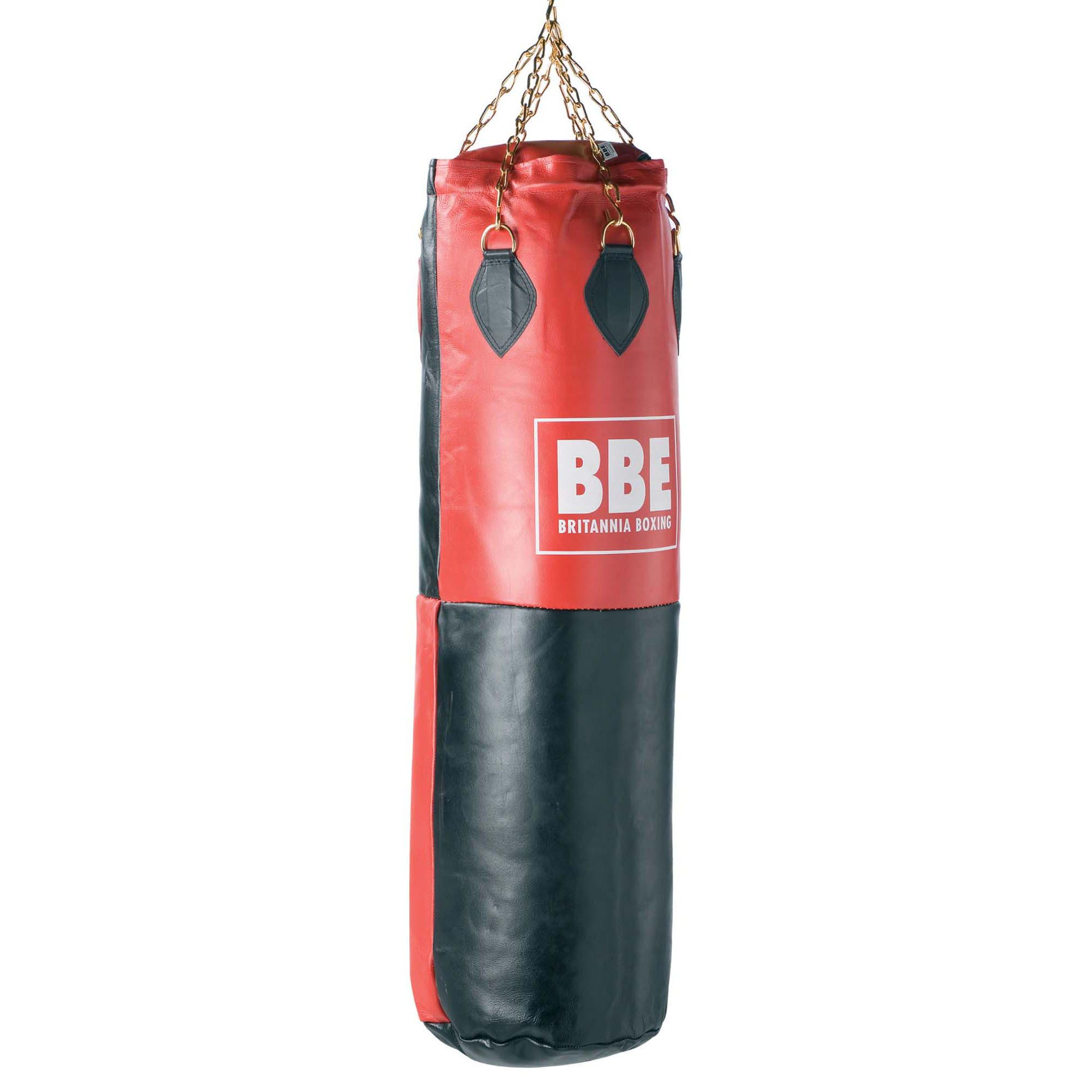 bbe club 4ft leather impact punch bag