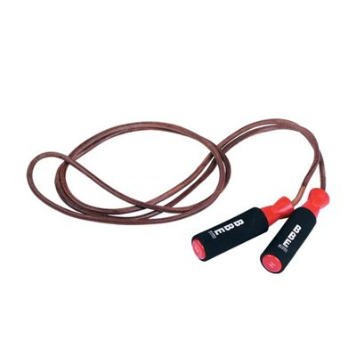 BBE Club 9ft Weighted Leather Skipping Rope