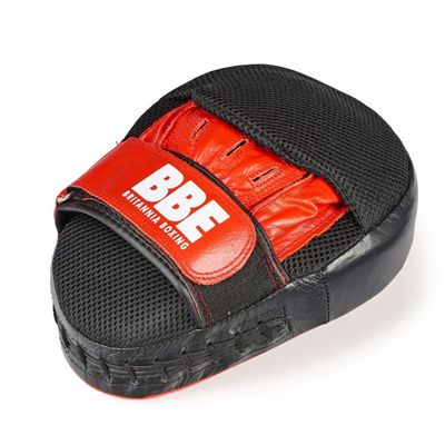 BBE Club Gel Cushioned Leather Curved Hook and Jab Pads - Above