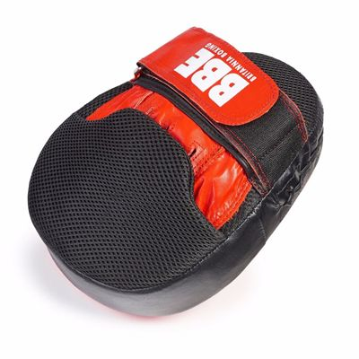 BBE Club Gel Cushioned Leather Curved Hook and Jab Pads - Side