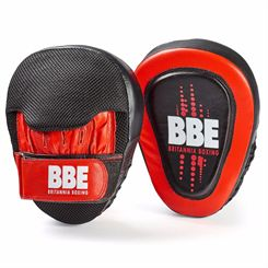 BBE Club Gel Cushioned Leather Curved Hook and Jab Pads