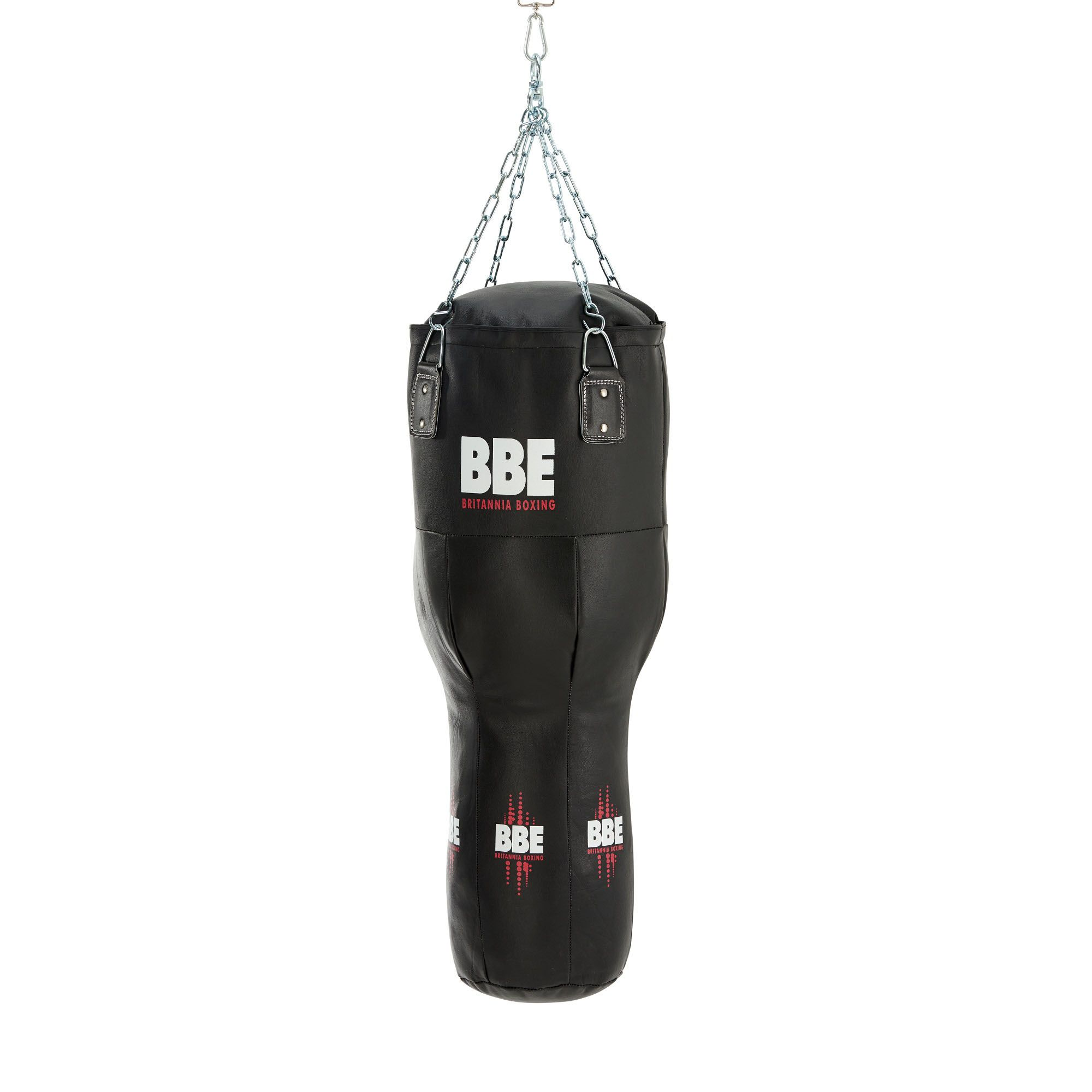 bbe club leather 110cm uppercut punch bag with chains swivel